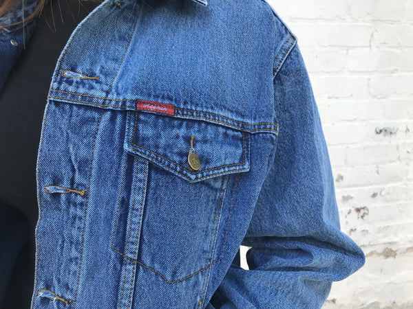 Vintage Unisex Oversized Blue Denim Jacket