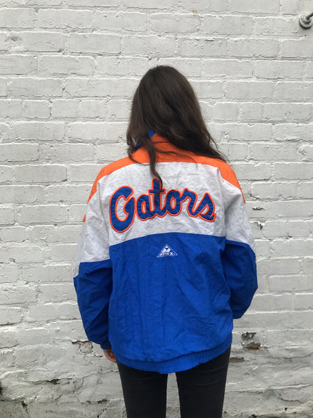 Vintage Unisex Oversized Windbreaker Shell Jacket Orange, White & Blue