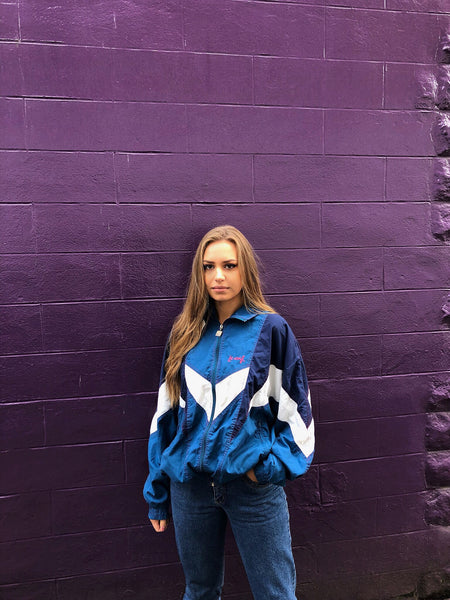 Vintage Unisex Retro Oversized Windbreaker Festival Shell Jacket