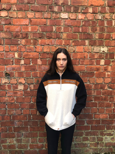 Vintage Unisex Oversized 1-4 Zip Fleece Jumper / Sweatshirt