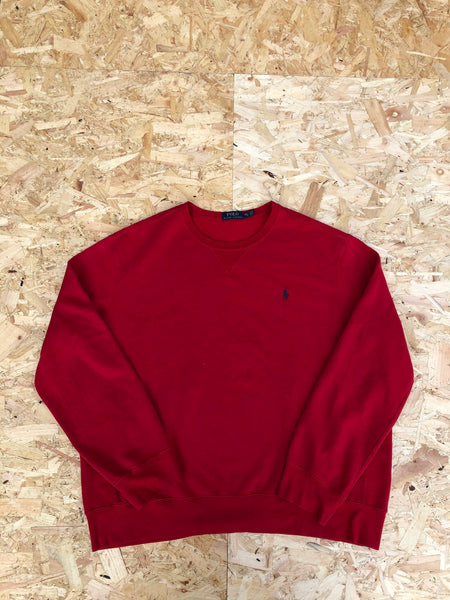 Vintage Ralph Lauren Unisex Oversized Sweatshirt  / Jumper / Sweater Pale Red