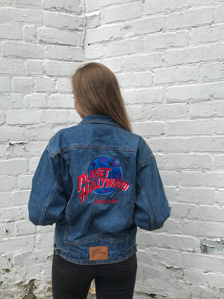 Unisex Vintage Planet Hollywood Orlando 90s Denim Jacket