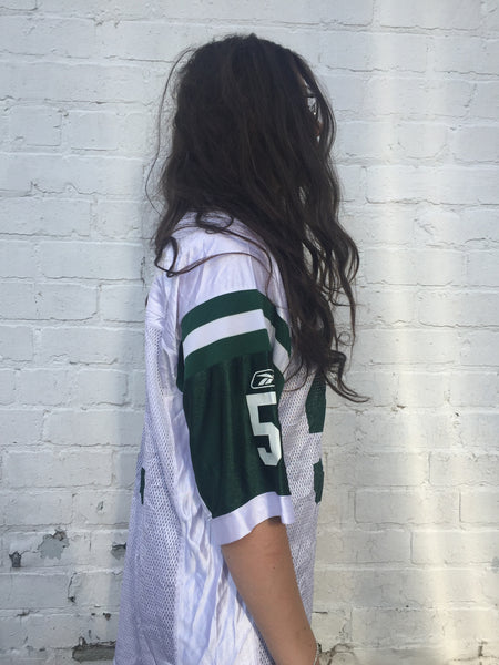 Vintage NFL Oversized American Football Jersey T shirt Green & White
