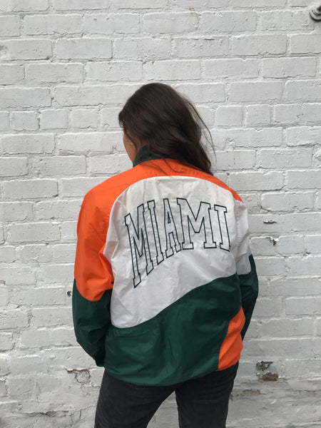 Vintage Unisex Windbreaker Shell Jacket Orange & Green