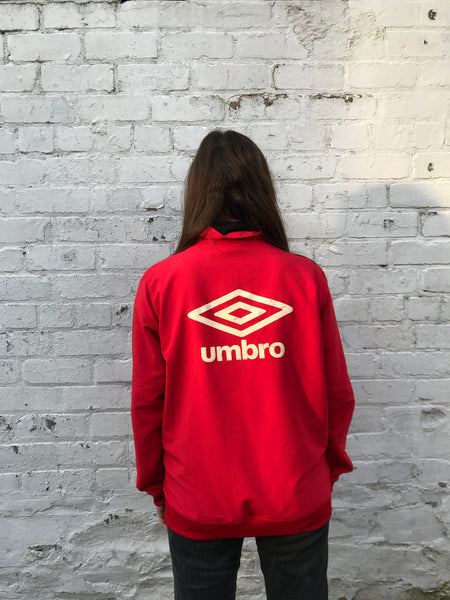 Vintage Umbro Oversized Unisex Shell Track Jacket Red