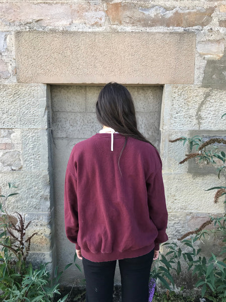 Vintage Champion Unisex Sweater / Sweatshirt / Jumper Burgundy