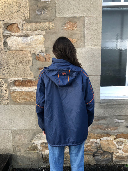 Vintage Asics Unisex Oversized Padded Puffer Jacket Blue & Orange