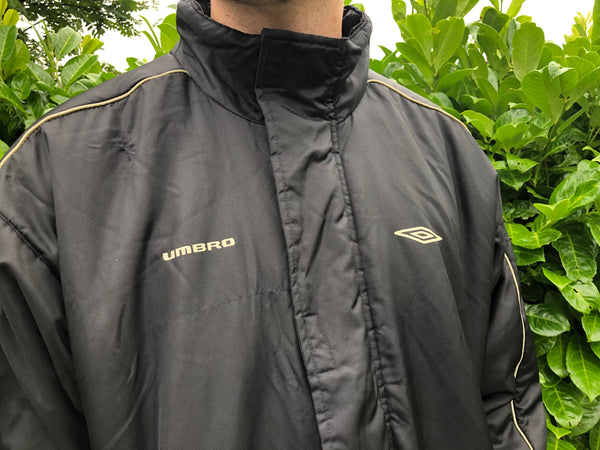Vintage Umbro Unisex Oversized Padded Puffer Jacket Black