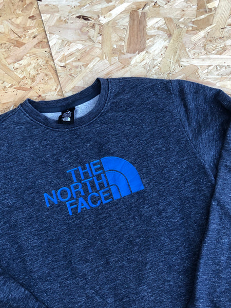 Vintage The North Face Unisex Oversized Sweatshirt / Jumper / Sweater Navy