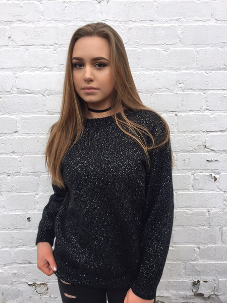 Vintage Sparkle Jumper Black