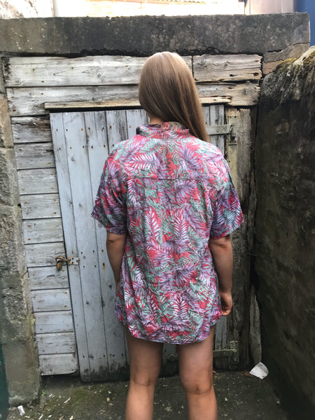 Vintage Hawaiian Crazy Patterned Unisex Short Sleeve Festival Shirt