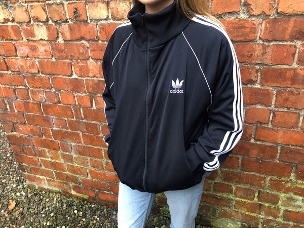 Adidas Adidas Originals 3-Stripes Vintage Unisex Track Jacket / Tracksuit / Track Top Black & White