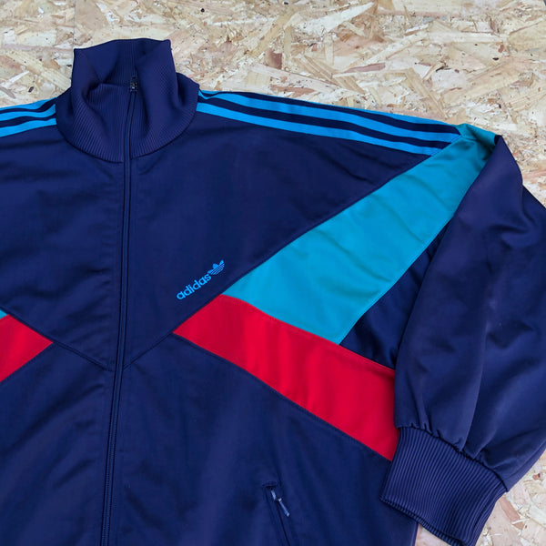 Adidas Originals 3-Stripes Vintage Unisex Bomber Track Jacket / Tracksuit Top Navy
