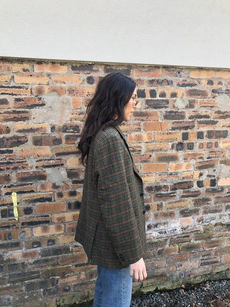 Vintage Oversized Unisex Tweed Blazer / Suit Jacket
