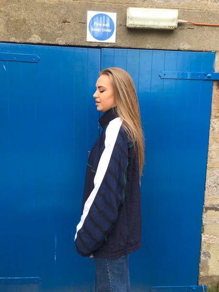 Vintage Puma Unisex Oversized Windbreaker Shell Jacket Navy