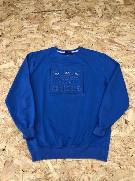 Vintage Adidas Originals Unisex Sweatshirt / Jumper / Sweater Blue