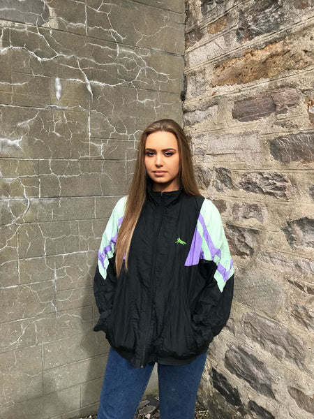 Vintage Unisex Festival Windbreaker Oversized Shell Jacket