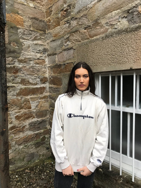 Vintage Champion Unisex Zip Sweater / Jumper