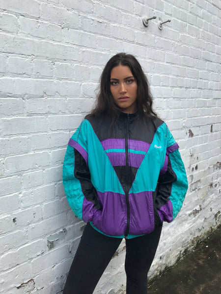 Vintage Unisex Crazy Windbreaker Oversized Shell Jacket