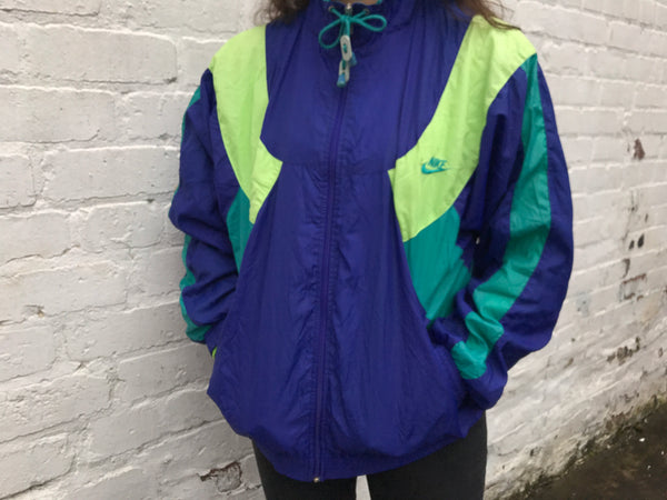 Vintage Nike Unisex Colourful 90s Oversized Windbreaker Shell Jacket