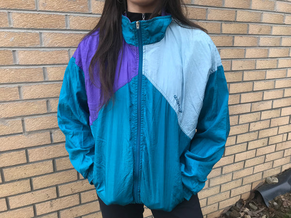 Vintage Unisex Festival Retro Oversized Windbreaker Shell Jacket