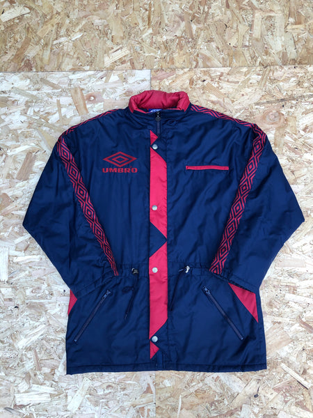 Vintage Umbro Unisex Oversized Padded Puffer Jacket Navy & Red
