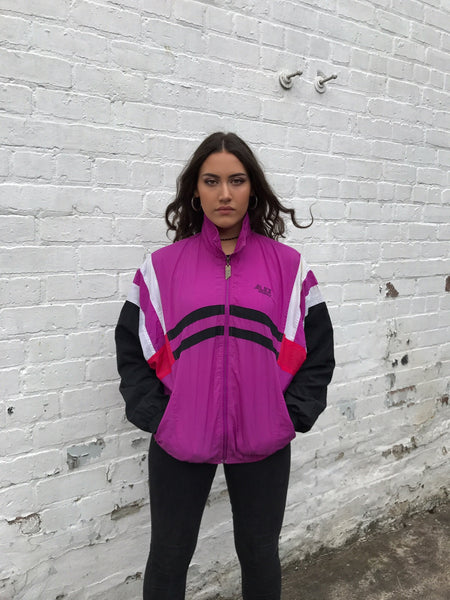 Vintage Unisex Retro Oversized Windbreaker Shell Jacket