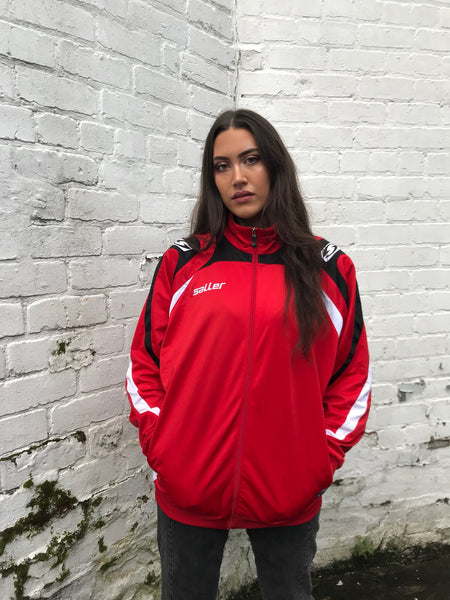 Vintage Oversized Track Jacket Unisex Red