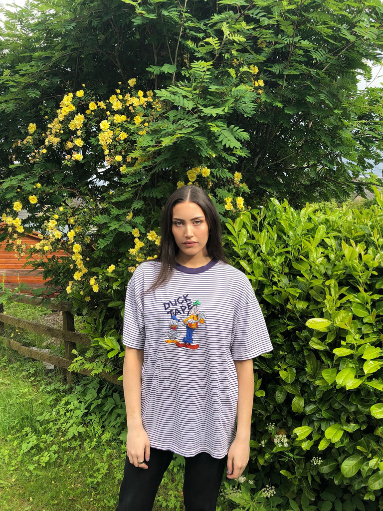 Vintage Disney Unisex Oversized Graphic Striped T Shirt