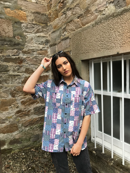 Vintage Crazy Patterned Unisex Short Sleeve Shirt