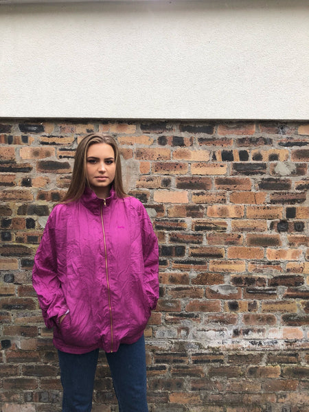 Vintage Oversized Unisex Shell Jacket Pink/Purple
