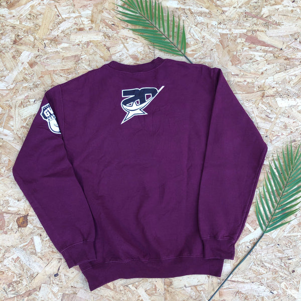 Vintage USA Graphic Print Unisex Sweatshirt  / Jumper / Sweater Purple