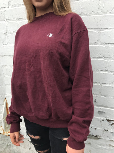 Vintage Champion Sweatshirt Burgandy Jumper