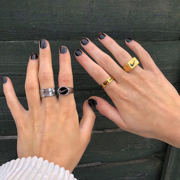 Vintage Style Swoosh Rings        (Select Colour/Style)