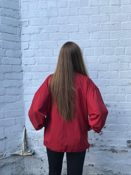 Vintage Reebok Oversized Unisex Windbreaker Shell Jacket Red