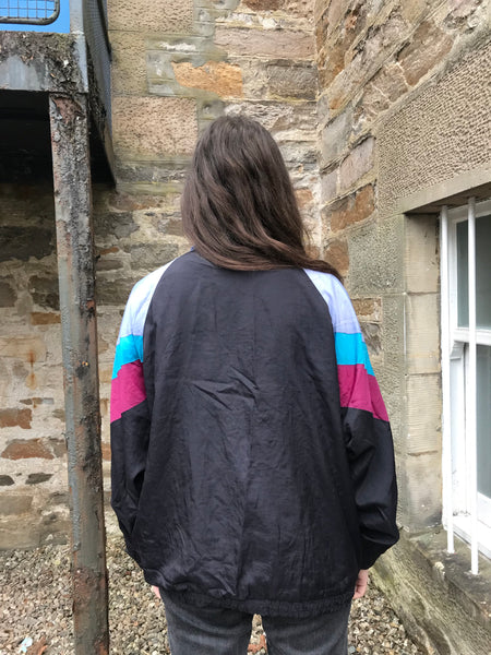 Vintage Colourful Unisex Wavy Oversized Windbreaker Festival Shell Jacket