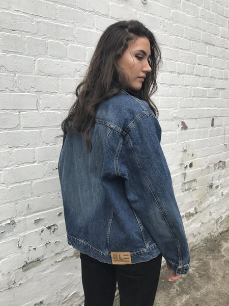 Vintage Ralph Lauren Polo Jeans Oversized Blue Unisex Denim Jacket