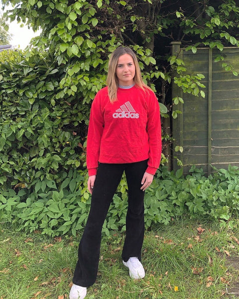Vintage Adidas Unisex Oversized Sweatshirt / Sweater / Jumper Red