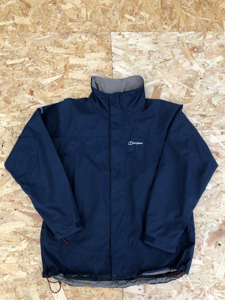 Vintage Berghaus Hooded Unisex Jacket Navy