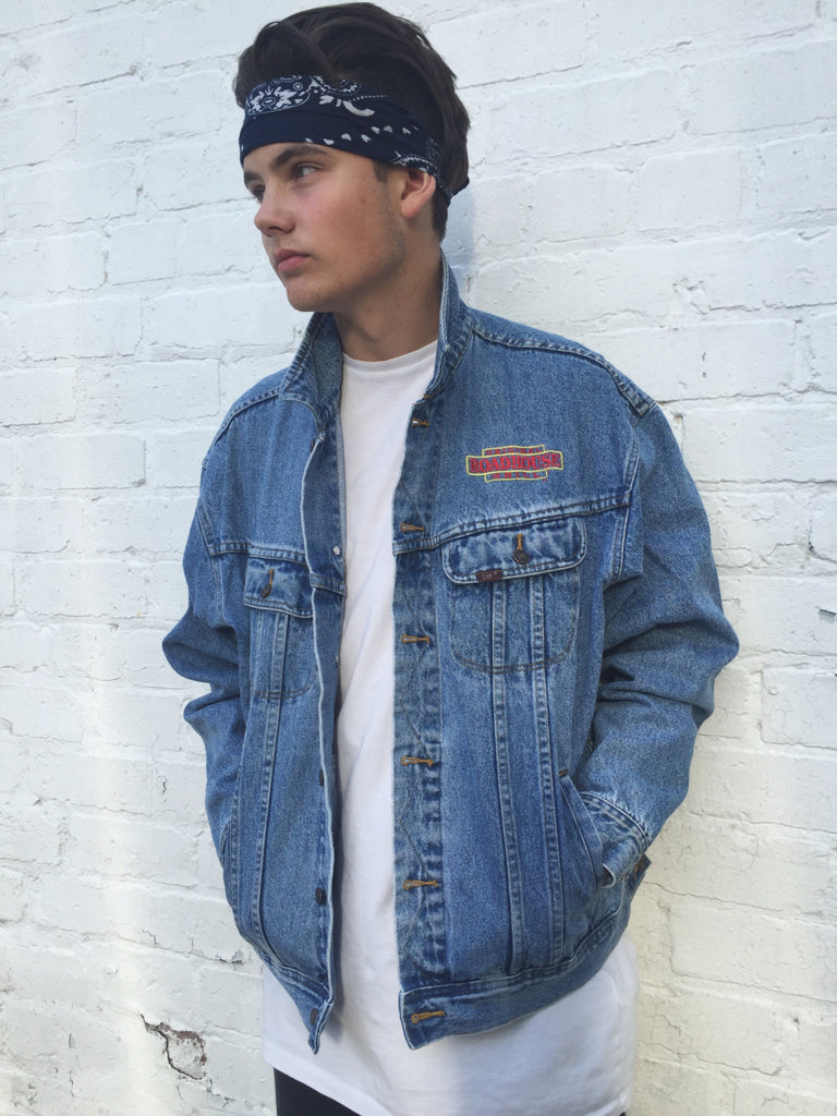 Vintage Lee Roadhouse Oversized Blue Denim Jacket