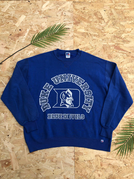 Vintage USA Graphic Print Unisex Sweatshirt / Jumper / Sweater Blue