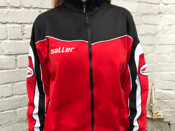 Vintage Track Jacket Unisex Red & Black