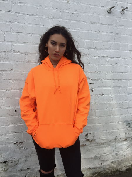 Love Route Unisex Bright Orange Hoodie