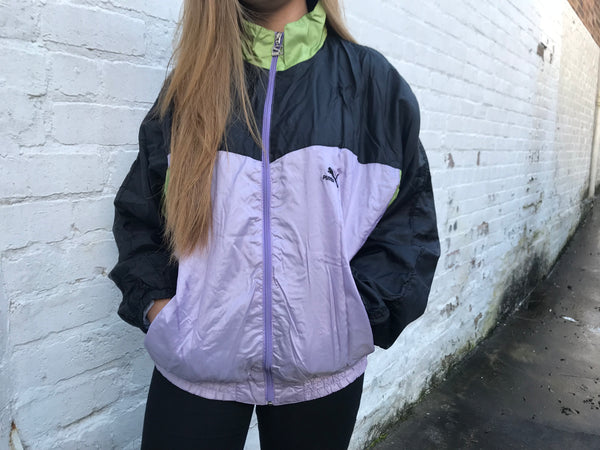 Vintage Puma Wavy Shell Windbreaker Unisex Oversized Jacket