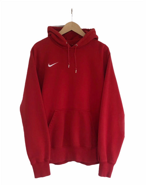 Vintage Nike Swoosh Oversized Hooded Sweatshirt Hoodie Red