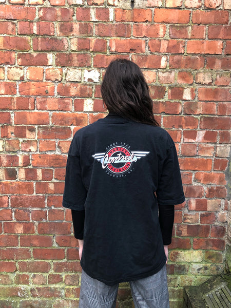 Vintage Harley Davidson Oversized Short Sleeve Graphic T Shirt / Tee Black