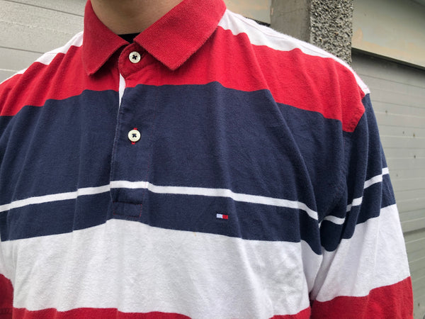 Vintage Tommy Hilfiger Short Sleeve Stripe Unisex Polo Shirt