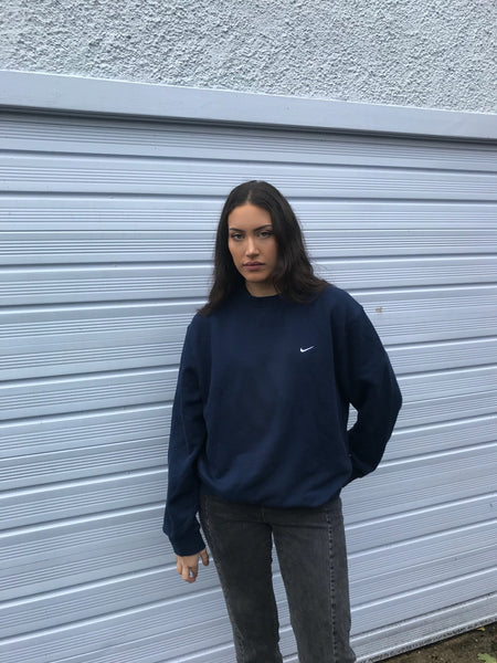 Vintage Nike Jumper Navy Blue Sweatshirt
