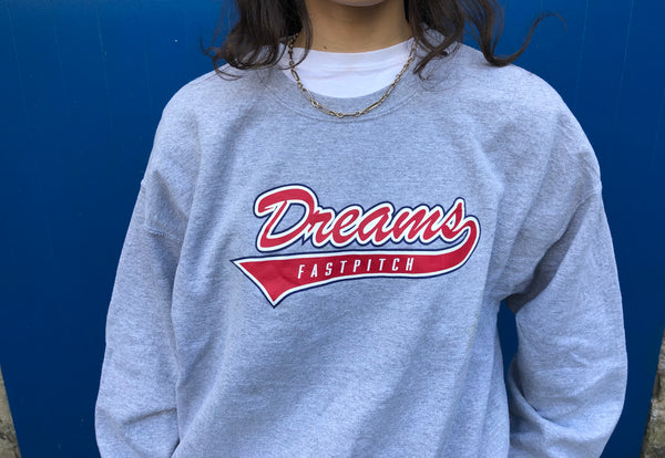 Vintage Dreams Unisex Graphic Print USA Sweatshirt / Jumper / Sweater Grey