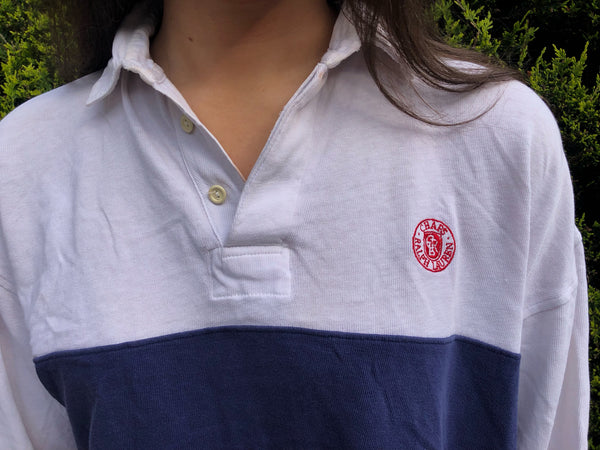 Vintage Ralph Lauren Chaps Polo Shirt Unisex Striped Oversized Top / T Shirt